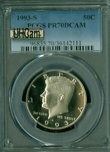 Click now to see the BUY IT NOW Price! 1993 S KENNEDY HALF DOLLAR PCGS PR 70 UHCAM ULTRA HEAVY CAM MAC SPOTLESS
