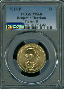 Click now to see the BUY IT NOW Price! 2012 D BENJAMIN HARRISON DOLLAR PCGS MS 68 POS B MAC FINEST MAC SPOTLESS POP 3