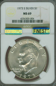 Click now to see the BUY IT NOW Price! 1973 S EISENHOWER DOLLAR NGC MS69 PQ MAC FINEST REGISTRY MAC SPOTLESS POP 2