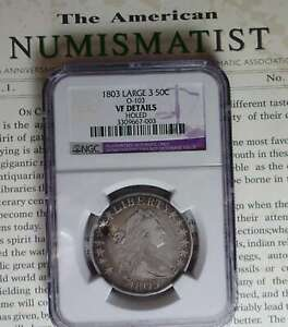 1803 DRAPED BUST HALF DOLLAR NGC VF DETAILS HOLE OTHERWISE CHOICE  MAXWELLS