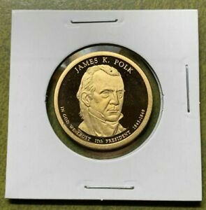 2009 PROOF JAMES K POLK PRESIDENTIAL DOLLAR FROM A 2009 US MINT SILVER PROOF SET