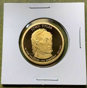 2009 PROOF JOHN TYLER PRESIDENTIAL DOLLAR FROM A 2009 US MINT SILVER PROOF SET