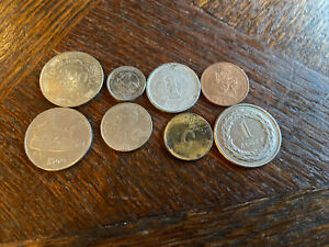 WORLD COIN LOT: 8 COINS COUNTRIES ALL OVER THE WORLD. GREAT DEAL