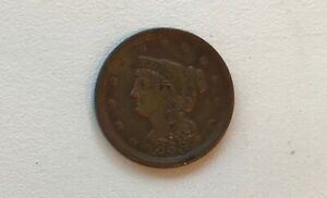 1853 BRAIDED HAIR HALF CENT NEEDLE SHARP CLEAR  ALMOST LOOKS LIKE UNCIRCULATED