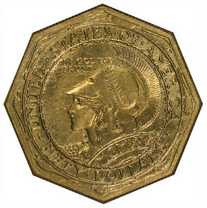 Click now to see the BUY IT NOW Price! 1915 S $50 GOLD COMMEMORATIVE $50 OCTAGONAL NGC MS64