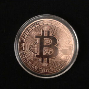 BITCOIN COMMEMORATIVE ROUND COLLECTORS BTC  PHYSICAL COIN  COPPER  GTC