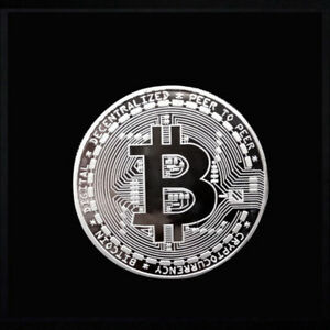 BITCOIN COMMEMORATIVE ROUND COLLECTORS BTC PHYSICAL COIN  SIVLER  E101