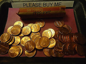 1995 LINCOLN CENT ROLL      UNC ROLL       >> C/S & H AVAILABLE <<