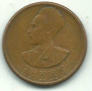 A NICE 1936 1944 ETHIOPIA 10 CENTS COIN OCT438