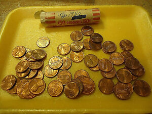 1980 LINCOLN RED CIRCS CENTS ROLL             C/S & H AVAILABLE