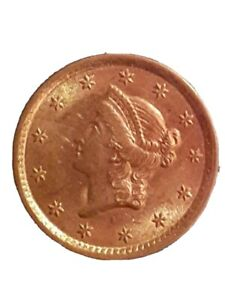 1852 LIBERTY HEAD $1 ONE DOLLAR UNITED STATES GOLD COIN UNCIRCULATED