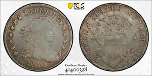 1800 DRAPED BUST SILVER DOLLAR AMERICA  VF GENUINE REPAIRED