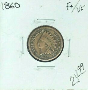 1860 INDIAN HEAD CENT   FINE /VF  NICE COIN