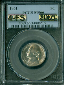 Click now to see the BUY IT NOW Price! 1961 JEFFERSON NICKEL PCGS MS66 4FS PQ MAC SOLO FINEST REGISTRY $20 000 IN 5FS
