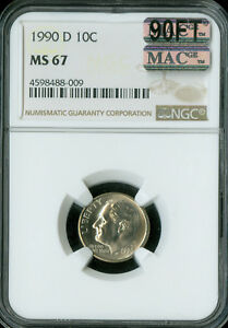 Click now to see the BUY IT NOW Price! 1990 D ROOSEVELT DIME NGC MAC MS67 90FT PQ  FINEST  SPOTLESS $5 000 IN FT