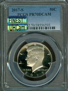 Click now to see the BUY IT NOW Price! 2017 S CLAD KENNEDY HALF PCGS PCGS PR70 DCAM MAC UHCAM FINEST SPOTLESS POP 145