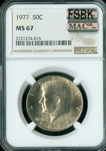 Click now to see the BUY IT NOW Price! 1977 KENNEDY HALF DOLLAR NGC MAC MS67 PQ FSBK FINEST REGISTRY SPOTLESS