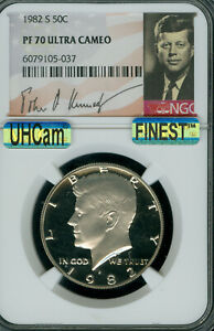 Click now to see the BUY IT NOW Price! 1982 S KENNEDY LOGOHALF DOLLAR NGC PF 70 UHCAM MAC FINEST LOW POP MAC SPOTLESS
