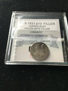 1831  USA CAPPED BUST SILVER DIME 10 FILLER