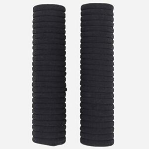 50 PCS HAIR TIES 0.16 INCH / 5 CM SOFT HAIR BANDS CAN EASILY FIX A BLACK