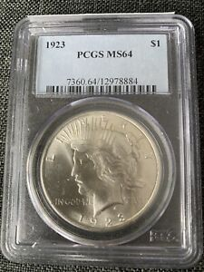 1922 PEACE SILVER DOLLAR $1 PCGS MS 64 BEAUTIFUL COIN
