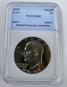 Click now to see the BUY IT NOW Price! IKE DOLLAR 1976 S CLAD TYPE 1 DCAM. PCGS ESTIMATED VALUE OF $6750