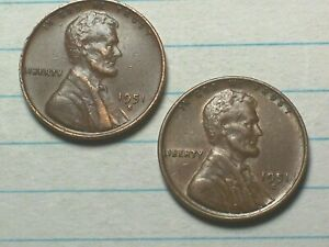 1951 D  @  LINCOLN  PENNY {FROM OLD ROLL}