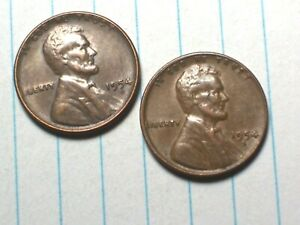 1954 D  @  LINCOLN  PENNY {FROM OLD ROLL}