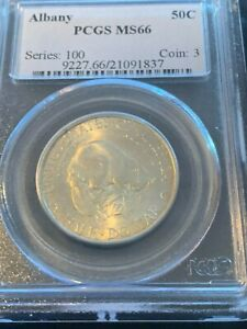 1936 ALBANY 50C PCGS MS 66   PQ COMMEMORATIVE HALF DOLLAR