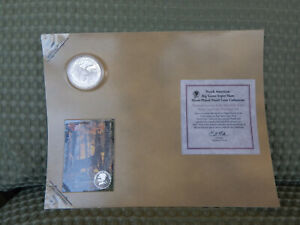 NORTH AMERICAN BIG GAME SUPER SLAM WHITETAIL DEER SILVER PLATED PROOF COIN