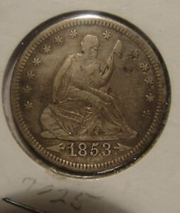 1853 O  SEATED QUARTER   ARROWS AND RAYS