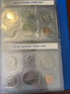 CANADIAN MINT PROOF SETS 1971 AND 1972