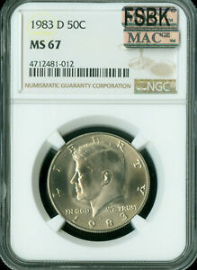 Click now to see the BUY IT NOW Price! 1983 D KENNEDY HALF NGC MS67 PQ FSBK FINEST REGISTRY MAC SPOTLESS