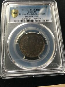 Click now to see the BUY IT NOW Price! 1858  PCGS GRADED CANADIAN LARGE ONE CENT   MS 64