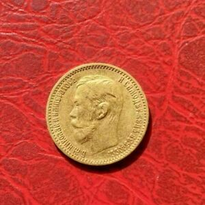 RUSSIA GOLD COIN  5 ROUBLE 1898 YEAR  4.3GM X.900
