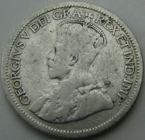 1936 CANADA 10 CENTS SILVER  TEN CENTS 10C  IN A SAFLIP   VG