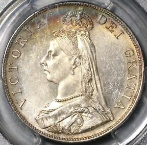 Click now to see the BUY IT NOW Price! 1887 PCGS MS 63 VICTORIA DOUBLE FLORIN 4 SHILLINGS GREAT BRITAIN COIN  21070402C
