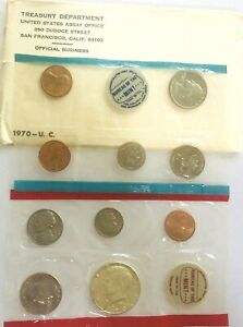 1970 MINT SET US COIN SET 40  SILVER KENNEDY 10 COINS