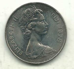 VERY NICELY DETAILED HIGH GRADE BU 1978 FIJI 20 TWO CENTS COIN NOV7334