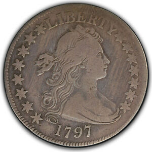 Click now to see the BUY IT NOW Price! 1797 DRAPED BUST HALF DOLLAR PCGS F12
