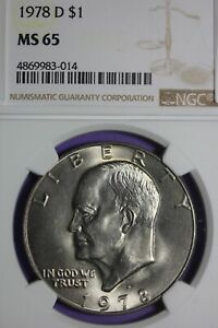 1978 D MS 65 EISENHOWER IKE DOLLAR NGC GRADED CERTIFIED GRADED AUTHENTIC OCE 581