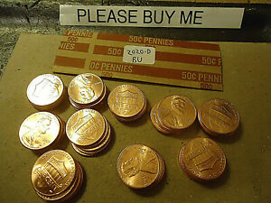 2020 D ROLL OF LINCOLN CENTS        BU        >> USA SELLER <<