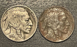 1936 S BUFFALO NICKEL F ONE COIN FROM PICTURED LOT