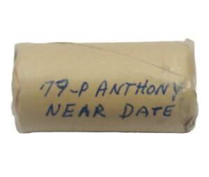 1979 P  SUSAN B ANTHONY NEAR DATE WIDE RIM ROLL OF 25 COINS CHOICE GEM