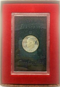 1972 S EISENHOWER PROOF SET 40  SILVER IKE DOLLAR BROWN BOX US COIN