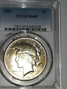 1926 PCGS MS65 PEACE DOLLAR HIGH QUALITY STUNNING  IN THIS CONDITION
