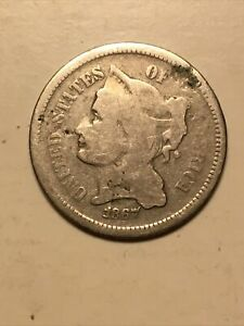 1867 3 CENT NICKEL GOOD COIN