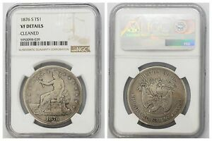 NGC US TRADE DOLLAR 1876 S MINT SILVER COIN VF