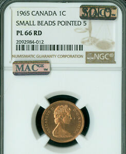 Click now to see the BUY IT NOW Price! 1965 SMALL BEADS POINTED  CANADA CENT NGC PL66 MAC SOLO FINEST 4 KNOWN SPOTLESS