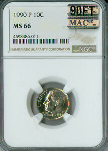 Click now to see the BUY IT NOW Price! 1990 P ROOSEVELT DIME NGC MAC MS66 90FT PQ  SPOTLESS $6 000.00 IN FT